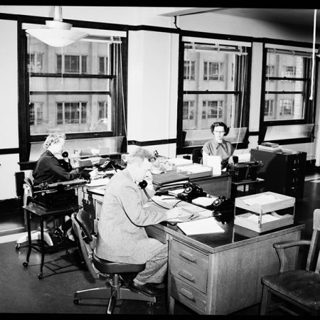 Open plan office design, retro design, office fit out, reporters near London.