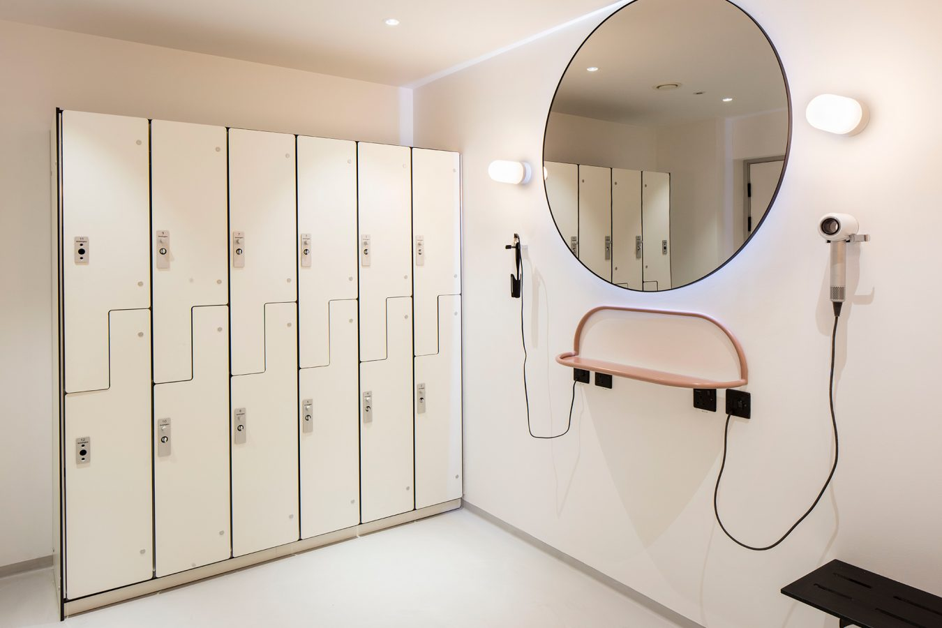 Industrial design for toilets in neutral colours near London.