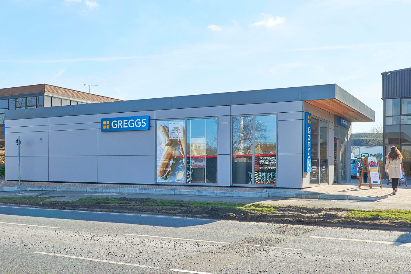 Industrial refurbishment unit for Greggs near Bracknell