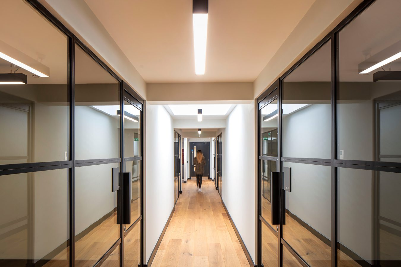 Comprehensive office refurbishment and critall style glazed partitions created in Salisbury House London