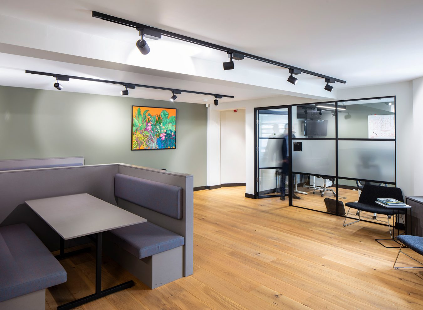 Contemporary break out area in Salisbury House.