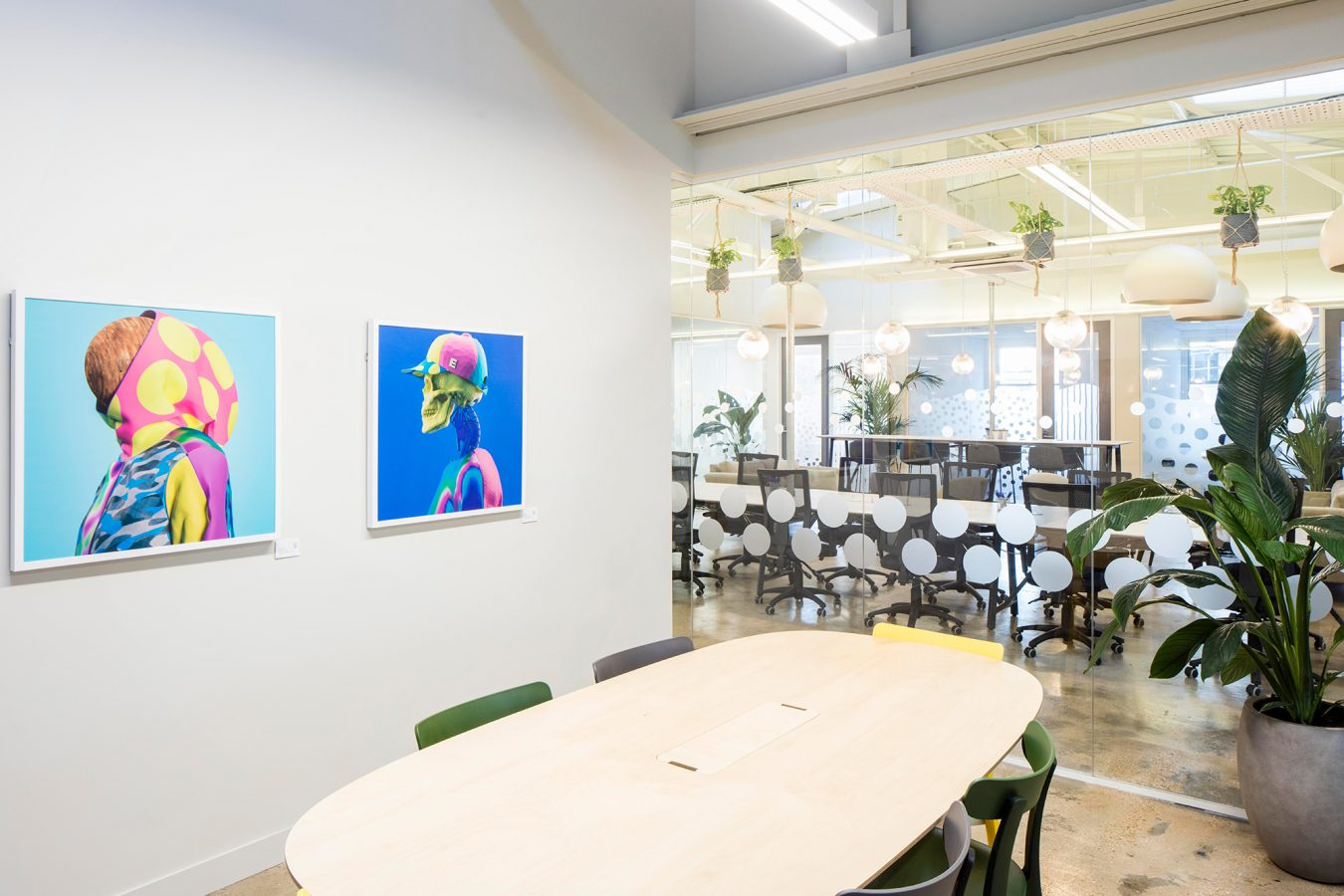Meeting room wall decoration and pop culture prints in Finsbury Park