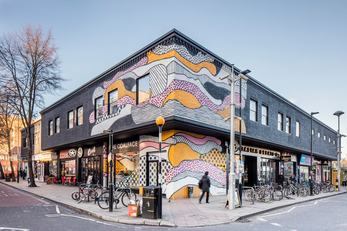 Graffiti wall design created in Finsbury Park