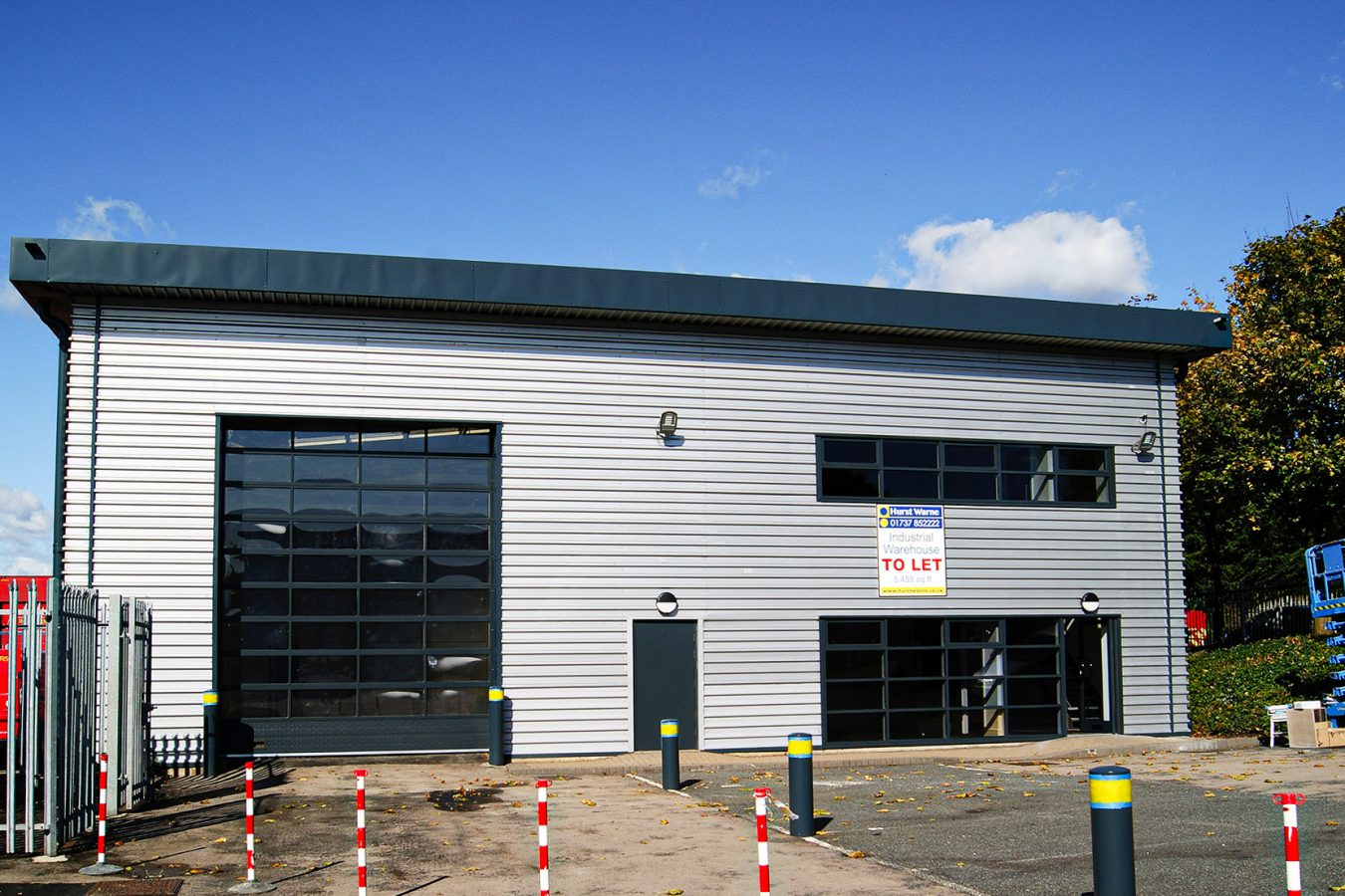 Outside warehouse cladding refurbishment in Corydon.