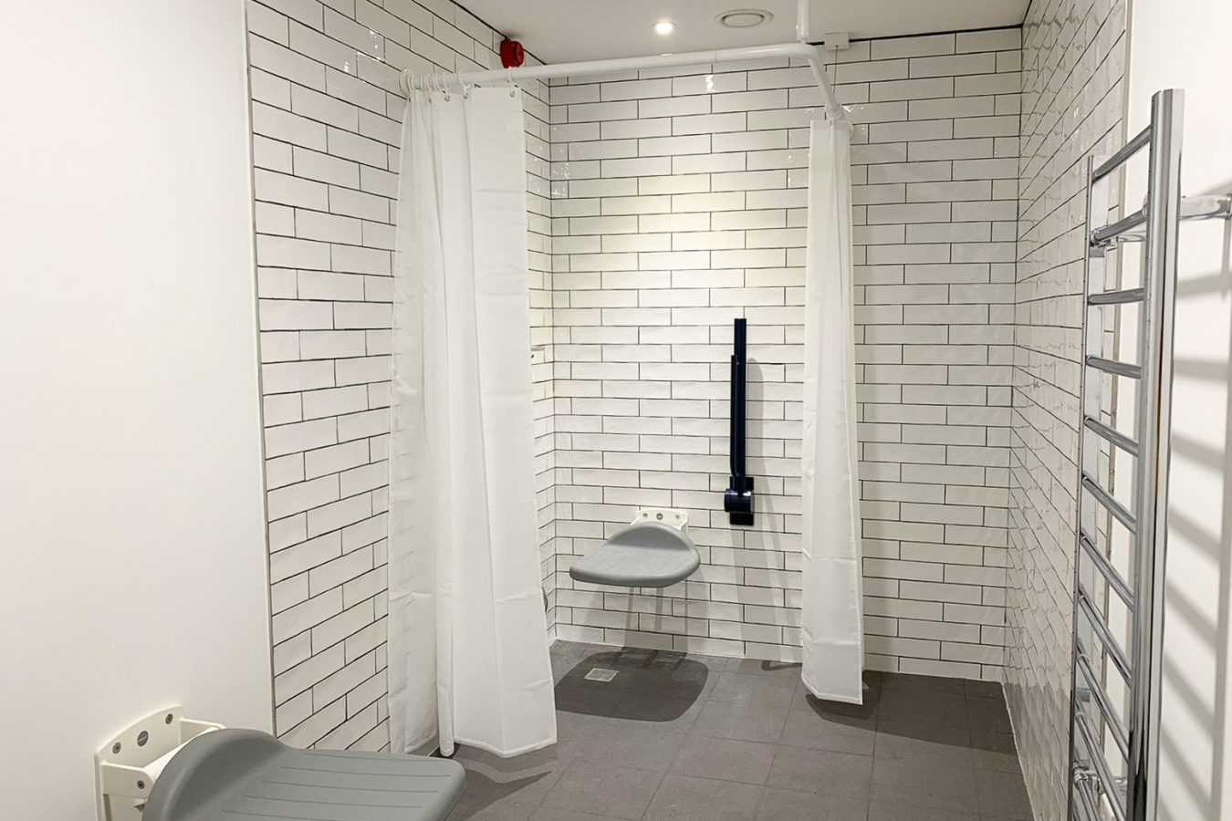 Disable shower design for a office space.