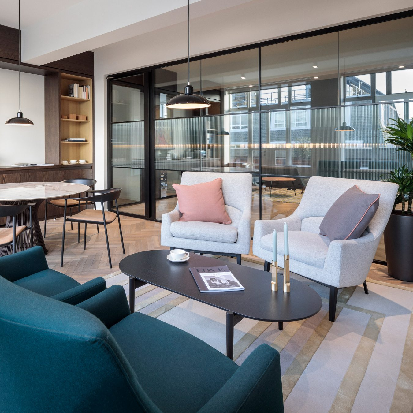 A design and build office fit-out in Esley House created a space dedicated to well-being and collaboration.