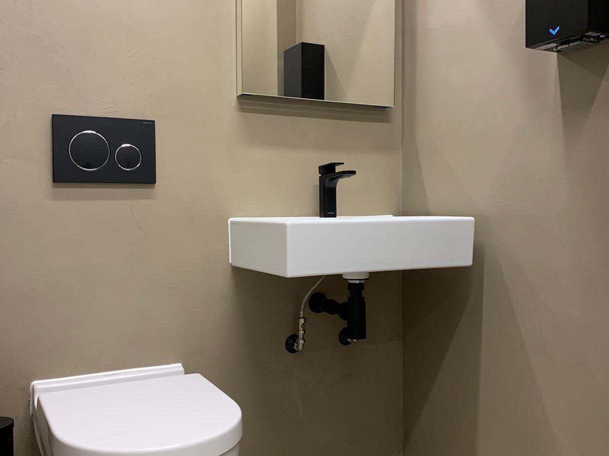 Modern office toilet sanitary wear.